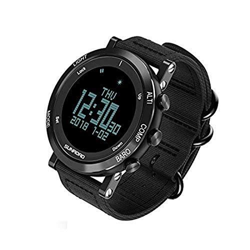 SUNROAD Uomini Intelligenti Sport Barometro Altimetro Impermeabile Orologio Digitale ha Portato Sullo Schermo Grande Faccia Altimetro Orologio & Impermeabile Casual Luminosi Cronometro