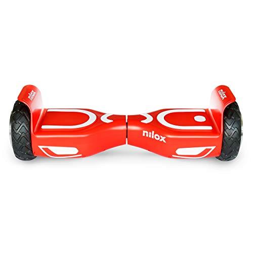 Nilox Doc 2 Hoverboard, Unisex Adulto, Rosso/Bianco, Taglia Unica
