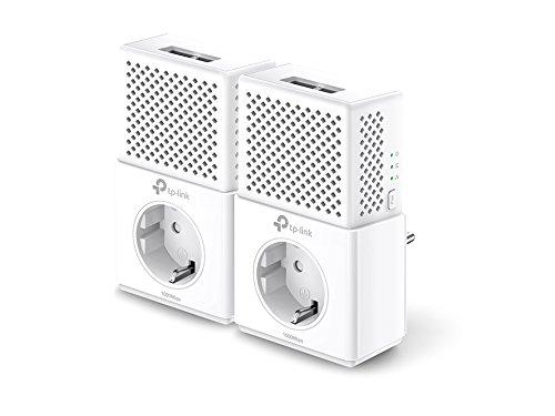 TP-Link TL-PA7020P-KIT Powerline Netzwerkadapter Set (1000Mbps(4-Ports) über Powerline, Steckdose, 4 Gigabit-Port, energiesparend, kompatibel zu allen gängigen Powerline Adaptern, ideal für IPTV) weiß