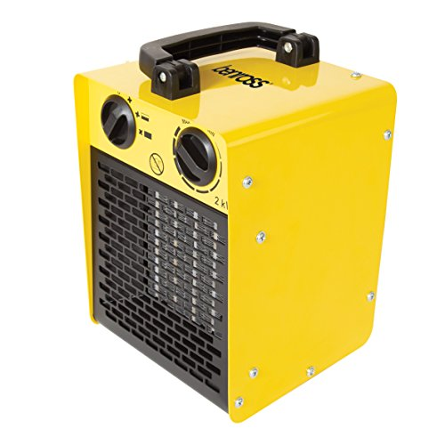 Benross 2000W Industrial Fan Space Heater, Powerful Heater for Workshop, Garage or Office with Fully Adjustable Thermostatic Control and Dual Heat Mode