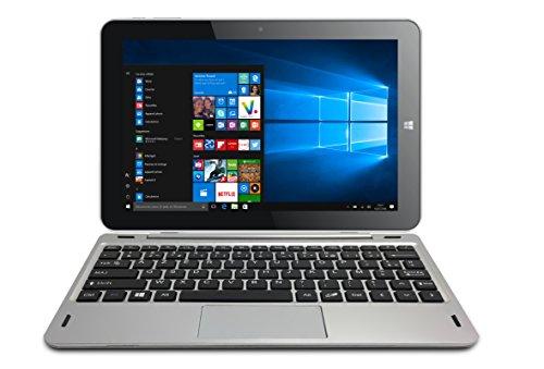 Thomson Tablette détachable 2en1 HERO10.2GR32 - 10,1' Gris - Windows 10 Home - 2 Go de RAM - 32 Go de Stockage - Écran HD IPS
