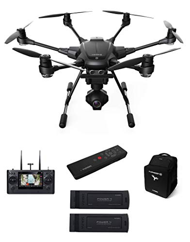 Yuneec TYHBPEU Typhoon H RTF con Videocamera 4K panoramica a 360°, Telecomando, Gimbal, 2 Batterie e Zaino, Nero