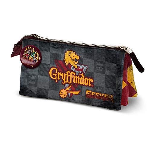 KARACTERMANIA Harry Potter Quidditch Gryffindor-Dreifach HS Federmäppchen Astuccio, Rosso