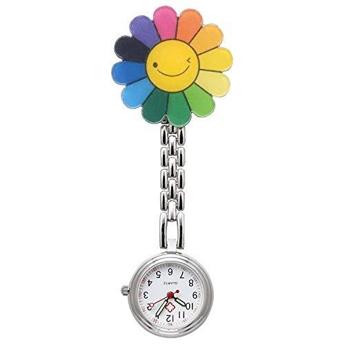 Orologio da taschino, silicone al quarzo con clip da appendere, vita impermeabile orologio da...