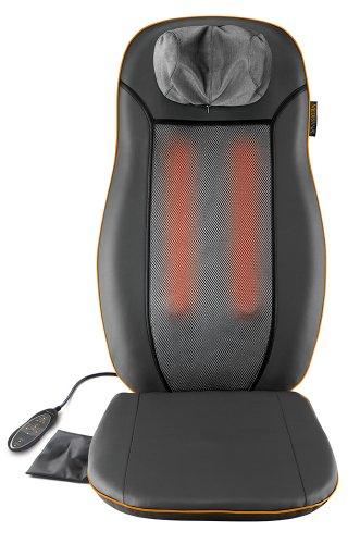 Medisana MCN Shiatsu-Massagesitzauflage - Massageauflage mit 3 Massagezonen und Wärmefunktion - mit höhenverstellbarer Nackenmassage - Zur Entspannung für den gesamten Rücken - 88930