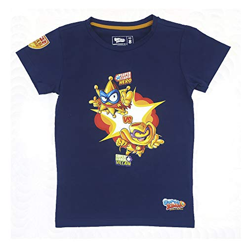 SuperZings Camiseta, Goldstars Azul, 6 para Niños