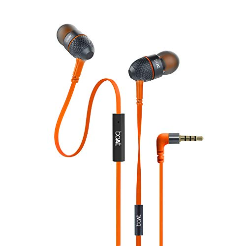boAt BassHeads 225 in-Ear Super Extra Bass Headphones (Molten Orange)