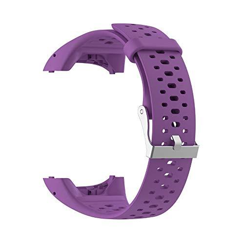 VIMOER Morbido Cinturino di Ricambio per Polar M400 M430 Smart Watch, Cinturino in Silicone con Polar A360 A370 Tracker, Viola, for Polar M400 M430 Smart Watch