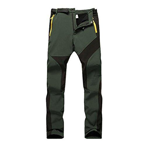 "SUKUTU Outdoor Stretch Fleeced Forrado para Mujer Senderismo Escalada Pantalones de Invierno Transpirable a Prueba de Viento (EU S(Waist 29""-31.5""/Tag L), Ejercito Verde)"