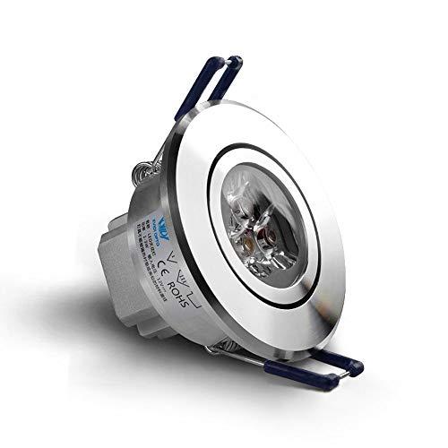 Laytter Faretti Incasso a soffitto a LED 3W Soggiorno Faretto Apertura 5 Cm 7 Cm Luce da Incasso for...