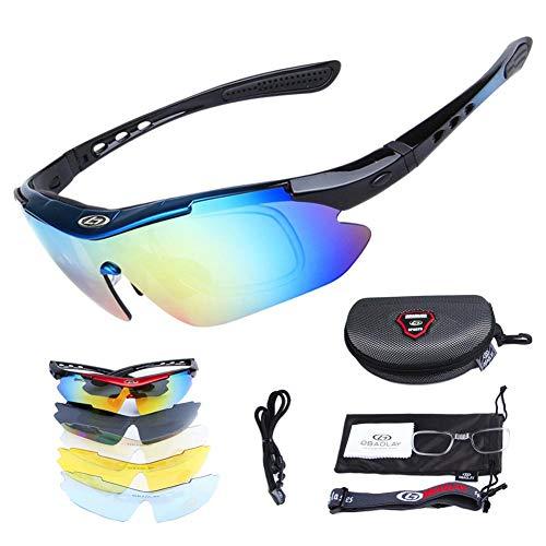 Gafas De Sol Hombre Gafas De Ciclismo Gafas De Sol Polarizadas 5 Lentes Intercambiables Gafas ROCKBROS Deportes Hombres Gafas De Ciclismo De Carretera Gafas De Protección De Montaña Anti-UV Gafas