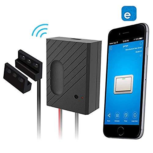 Garage Telecomando senza fili Smart Home Garage Apriporta - Controllo tramite Smart Phone, Amazon Alexa e Google Assistant Enabled Devices, con ewelink/TUYA Smart Life App (eWeLink para android & IOS)