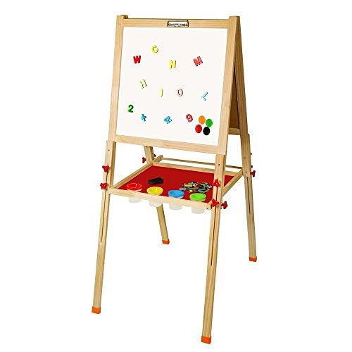 Arkmiido Lavagna pieghevole in legno per bambini, Altezza regolabile, Lavagna a cavalletto da...