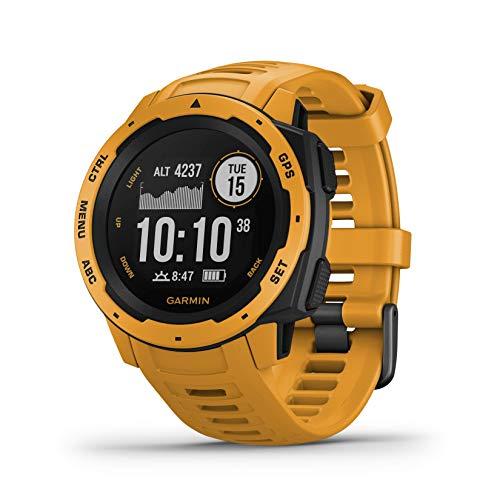 Garmin Instinct, Sportwatch GPS Unisex Adulto, Giallo, Regular