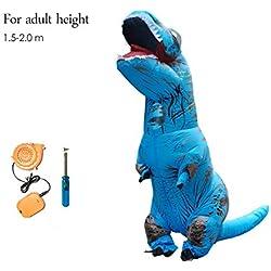 Dinosaurio Inflable T Rex Traje Jurassic World Park Explosión Dinosaurio Cosplay Inflable Disfraz Traje De Fiesta para Niños Adultos,Adult