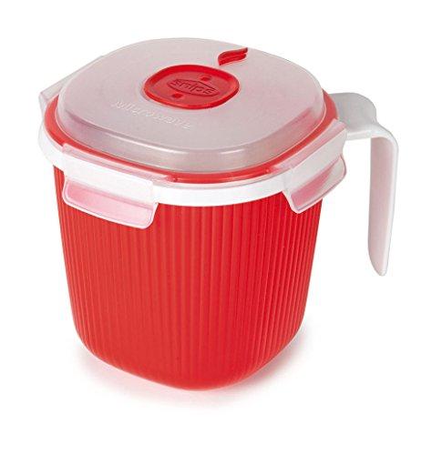 Snips 000700 Tazza per Bevande Calde e zuppe-Contenitore per microonde-0,7 lt, Bianco