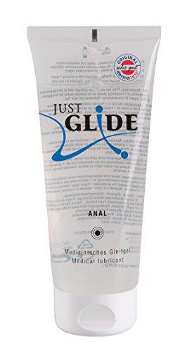 Just Glide Anal Gleitgel 200 ml - Natürliches Gleitmittel auf Wasserbasis für sie und ihn, Gleitcreme für Analverkehr, 100{51ac8b73b78743f62b849941db266780d598b619a21700da14032a21b15e3a02} vegan