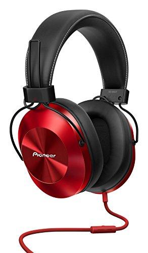 Pioneer SE-MS5T-R - Auriculares de tipo diadema (HiRes, power bass, micrófono, control de Smartphone), colo Rojo