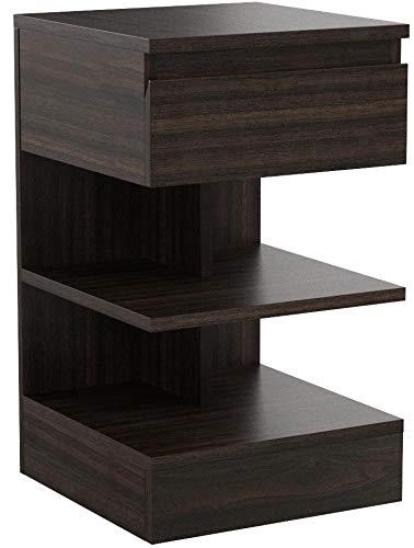 SoBuy Tavolino da divano, tavolino da soggiorno, Comodini letto,con cassetto,FBT49-BR,IT