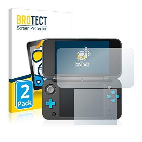 BROTECT Pellicola Protettiva Opaca compatibile con New Nintendo 2DS XL [2 Pezzi] - Anti-Riflesso, Anti-Graffio