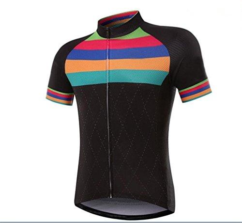 QXF Que Absorbe la Humedad Trajes de Jersey de Manga Corta Equipo de Bicicleta de montaña, XXL
