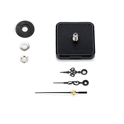 Clock-it Meccanismo Orologio Di Qualità, Silenzioso Con Rotazione Continua, Lancette Metallo italiane, Canotto H 16mm / filettatura 10mm. Azienda italiana specializzata.