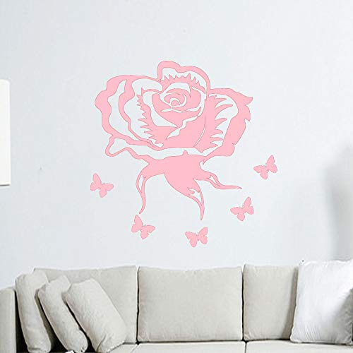 jiushizq Adesivi murali Fiore Rosa Molti Colori Adesivi murali Soggiorno Vinile Camera da Letto...