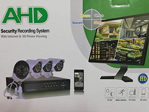 KIT VIDEOSORVEGLIANZA AHD IP CLOUD DVR 4 CANALI 4 TELECAMERE HD INFRAROSSI