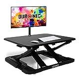 Duronic DM05D11 Estación de Trabajo para Monitor con Altura Ajustable de 6 a 42 cm - Mesa para Trabajar de pie y Sentado