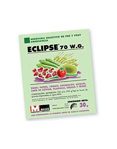 MASSO Herbicida selectivo Eclipse 70 WG para Patata, Trigo, Alfalfa, Cebada,Tomate y Otros