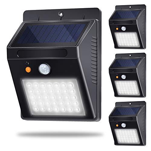 Faretti Luce Solare Esterno, Lampade Giardino Energia Solare, Lampada Solare Crepuscolare con...