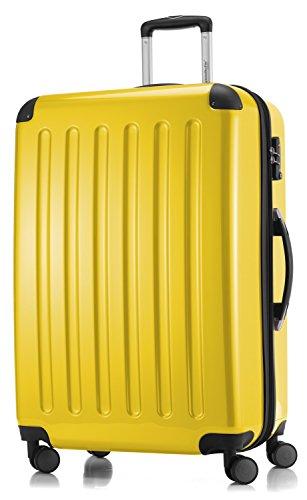 HAUPTSTADTKOFFER - Valigia Rigida Alex, 4 Doppie ruote, TSA, Taglia 75 cm, 119 Litri, Colore Giallo