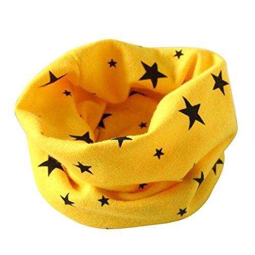 Tefamore O Invierno De Las Muchachas De Las Bufandas De Cuello Collar Del Bebé PañUelo De AlgodóN O De Anillo (Amarillo)