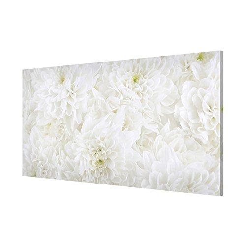 Bilderwelten Lavagna magnetica - Dahlias Flower Sea White - Panorama Formato orizzontale quadro...