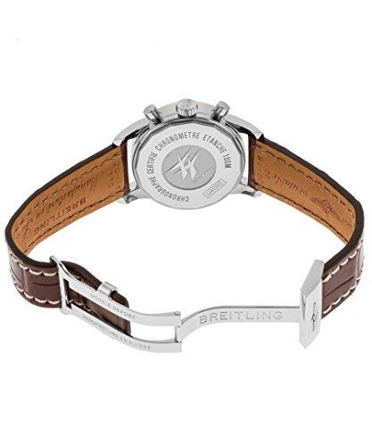 Breitling Damen braun Krokodil Leder Band Stahl Fall S. Saphir Automatik Uhr u4131053-q600ls - 2