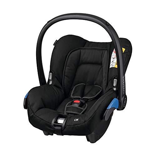 Maxi-Cosi Citi Babyschale, federleichter Baby-Autositz Gruppe 0+ (0-13 kg), nutzbar ab der Geburt bis ca. 12 Monate, Black Raven (schwarz)