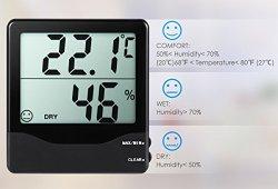 AMIR Thermomètre Intérieur, Thermomètre Hygromètre Digital, Moniteur de Température et d'humidité Sans Fil avec écran LCD, MIN/MAX Records, Indicateur de Confort, Station Météo pour Maison et Bureau prêt à acheter