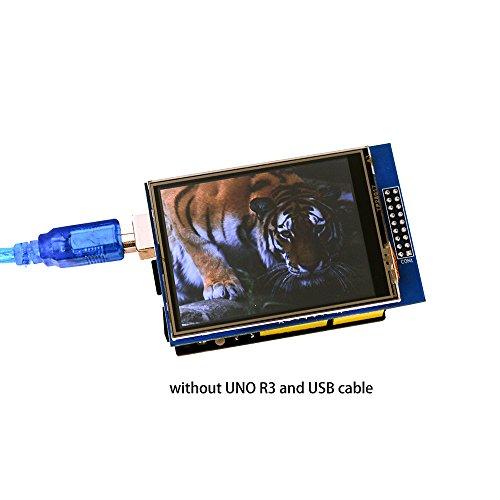 41lCFAIjNpL - ELEGOO Pantalla Táctil TFT de 2,8 Pulgadas con Tarjeta SD con Todos Los Datos Técnicos en CD Compatible con Arduino UNO R3 Placa
