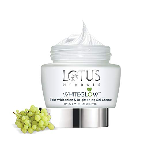 Lotus Herbals Whiteglow Skin Whitening And Brightening Gel Creme, SPF-25, 60g