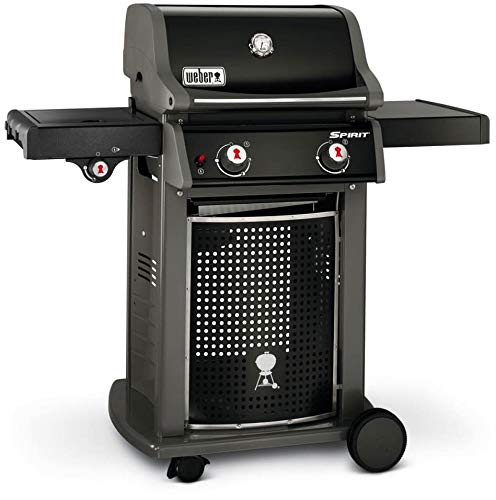 WEBER - Barbecue a Gas con fornello Laterale con Coperchio e Ruote E-220 Spirit Classic