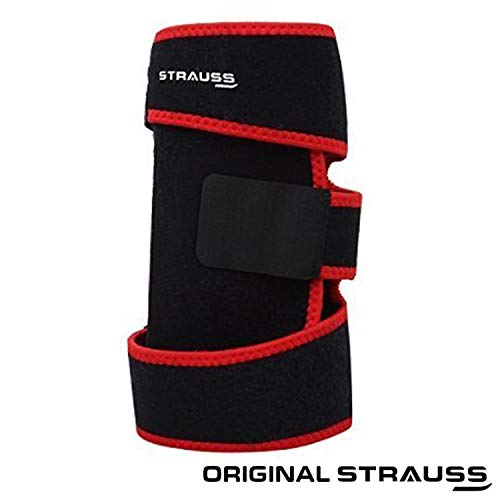 Strauss Adjustable Knee Support, Free Size (Black)
