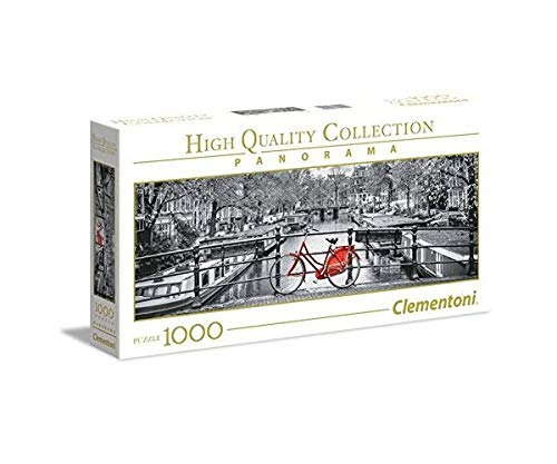 Clementoni Collection Panorama Puzzle Amsterdam Bicycle, 1000 Pezzi, 39440