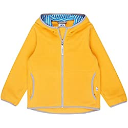 Finkid Paukku yellow storm Zip In Kinder Fleece Jacke