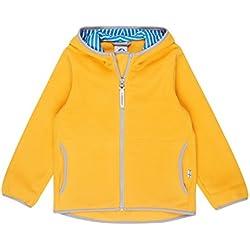 Finkid Paukku yellow storm Zip In Kinder Fleece Jacke