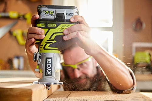 the Ryobi R18TR-0 ONE+ Cordless Trim Router is ideal for trim work but can also be used for creating rabbets, dadoes, and grooves.