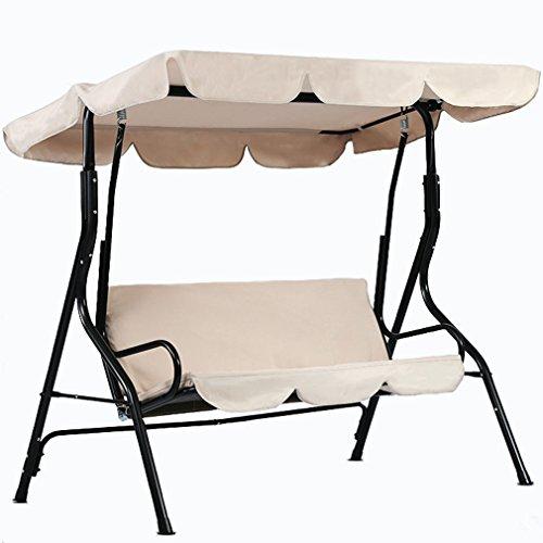 dDanke Dondolo resistente ai raggi UV antipioggia tettuccio sostitutivo per dondolo da giardino, in 3posti 195* 125cm