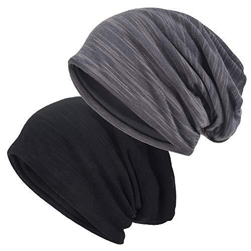 EINSKEY Mützen Herren Damen Dünn Beanie Kopfbedeckung für Sport, Chemo, Haarausfall, Schlaf
