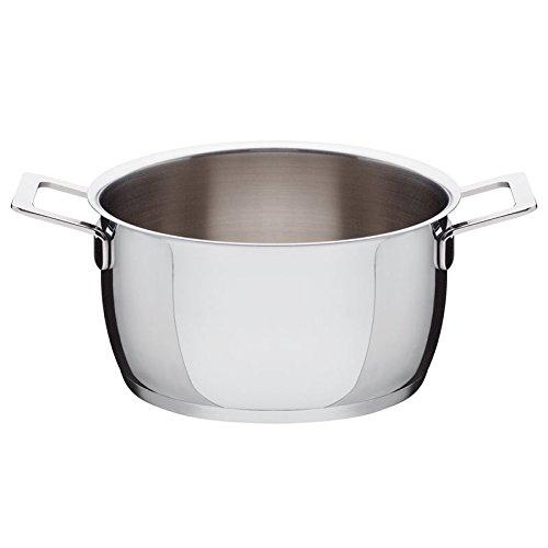 Alessi AJM101/20 Pots&Pans Casseruola a Due Manici, in Acciaio Inossidabile 18/10 Lucido, 320 cl