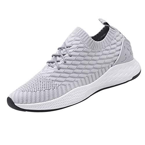Zapatillas Running para Hombre Aire Libre y Deporte Mesh Malla Ligero y Comodo Net para Estudiante Volar Zapatos Casual Deportivos Gimnasia Sneakers 39-44 riou