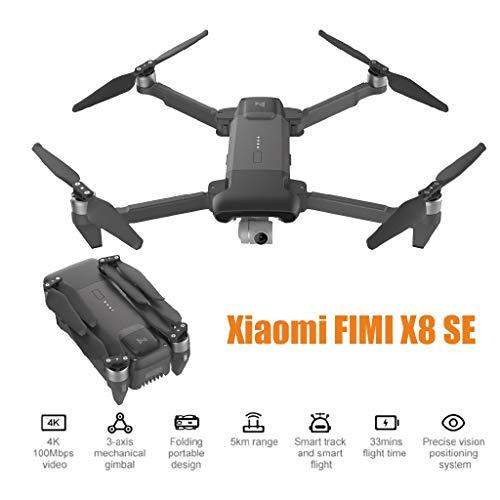 Deng Xuna FIMI X8 SE 5KM FPV 3 Assi Gimbal GPS 1080P 4K Camera RC Drone Quadricottero RTF Funzione Seguimi modalità Senza Testa Fotografia Aerea 33mins Tempo di Volo (Nero)